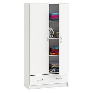 Skříň policová 2 dveře + 1 zásuvka BEST bílá obraz
