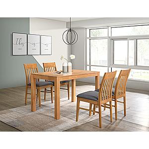Kasvo VAŠEK stůl+VIOLA židle 1+4 buk/ látka Violet obraz