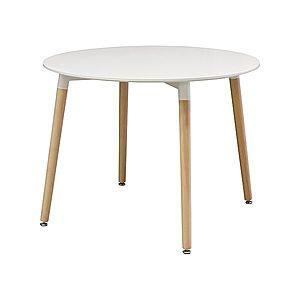 Jídelní stůl průměr 100 UNO bílý obraz