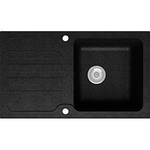 Dřez Granitový 1k 860x500 Černá obraz