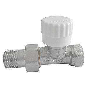 """Termostatický ventil průběžný 1/2"""" rovný obraz"""