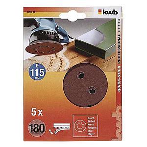 Děrovaný brusný papír k exc. brusce 115 K180 SB obraz