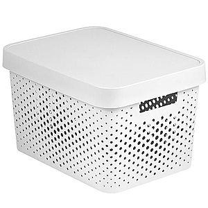 Box s víkem infinity 17l 229153 bílý obraz