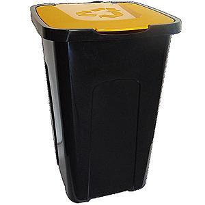 Koš 50L pro třídění odpadu žlutý obraz
