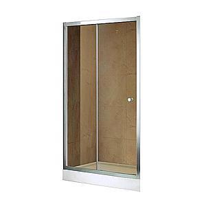 Sprchové Dveře Vega 100x195 Hnědé-Chrom obraz
