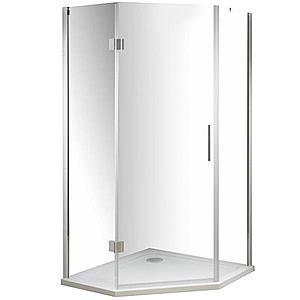 Sprchový kout pětiúhelník verdi 90/90/185 čiré sklo obraz