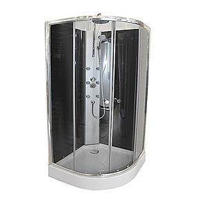 Sprchový box čtvrtkruhový s hydromasáží k-391b obraz
