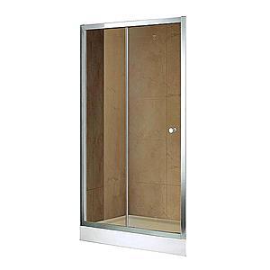 Dveře Vega 120x195 Hnědé-Chrom obraz