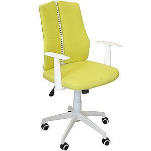 Otáčecí Židle Cz11126m Žlutý/Bilá obraz