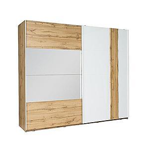 Skříň Wood 12 250 cm Bílá/Wotan obraz