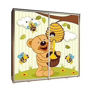 Skříň Penelopa 205 cm medvídek obraz