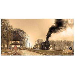 Dekor skleněný - lokomotiva 30/60 obraz