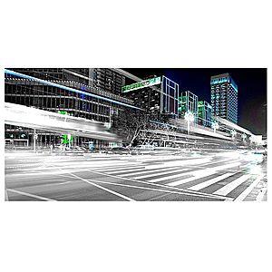 Dekor skleněný - město v noci 30/60 obraz