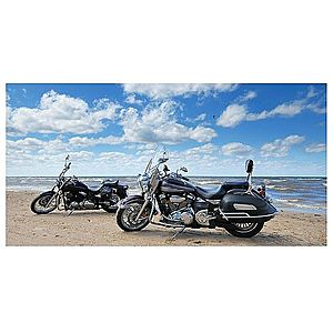 Dekor skleněný - motocykly na pláži 30/60 obraz