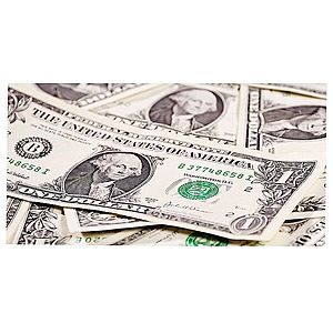 Dekor skleněný - dolary 30/60 obraz