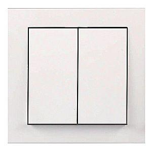 Vypínač dvojitý Cubus bilý 28501 obraz