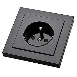 Zásuvka jednoduchá Cubus grafit 28515 obraz