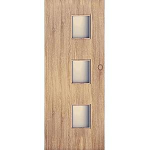 Posuvné dveře Trio 3*3 60L dub sonoma obraz