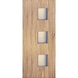 Posuvné dveře Trio 3*3 80L dub sonoma obraz
