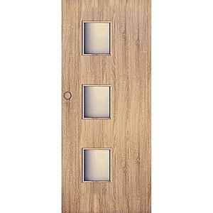 Posuvné dveře Trio 3*3 80P dub sonoma obraz