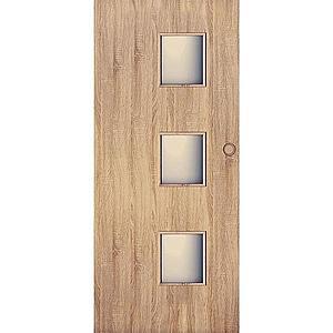 Posuvné dveře Trio 3*3 90L dub sonoma obraz