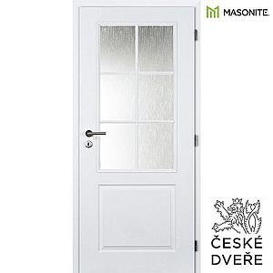 Interiérové dveře Aulida 2/3 Sklo Bílé 60P obraz