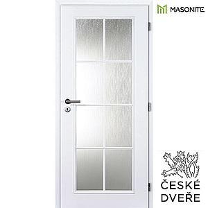 Interiérové dveře Elida Sklo Bílé 70P obraz