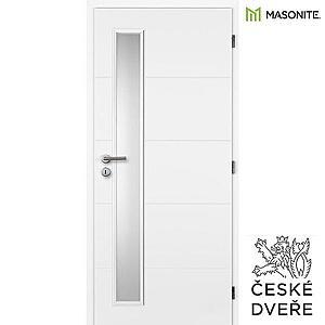 Interiérové dveře Quatro Vertika Sklo Bílé 70P obraz