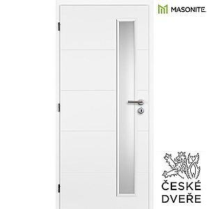 Interiérové dveře Quatro Vertika Sklo Bílé 80L obraz