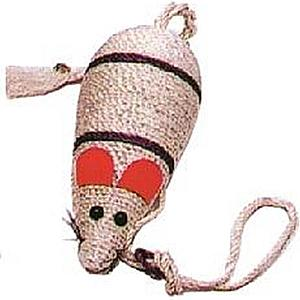 Škrabadlo myš sisal 31cm obraz