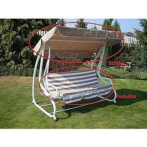 Zahradní houpačka DE LUXE béžová / bílá obraz