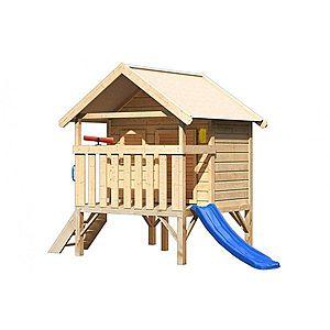Dětský domeček se skluzavkou Dekorhome Modrá obraz