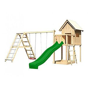 Dětské hřiště se skluzavkou Dekorhome Zelená obraz