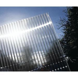 Hliníková pergola 4, 95 x 3 m bílá / polykarbonát Dekorhome Průhledná (čirá) obraz