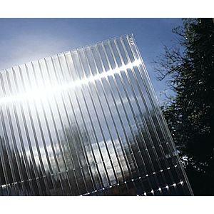 Hliníková pergola 3, 12 x 3 m bílá / polykarbonát Dekorhome Průhledná (čirá) obraz