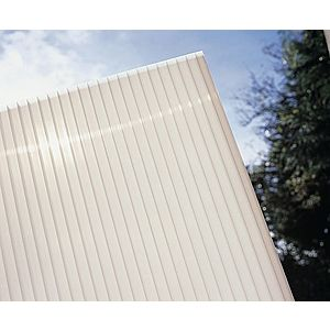 Hliníková pergola 3, 12 x 3 m antracit / polykarbonát Dekorhome Mléčně bílá (opál) obraz