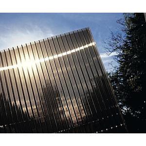 Hliníková pergola 4, 95 x 3 m antracit / polykarbonát Dekorhome Kouřově hnědá (bronz) obraz