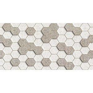 Dekor Materia Beige Hexagon 25/50 obraz