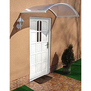 Oblouková stříška nad dveře 160/70 Dekorhome Bílá obraz