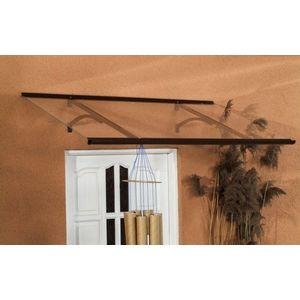 Vchodová stříška 160/85 hliník / plexisklo Dekorhome Hnědá obraz
