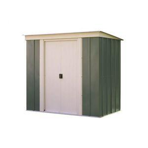 Kovový zahradní domek 194 x 119 cm Dekorhome Zelená obraz