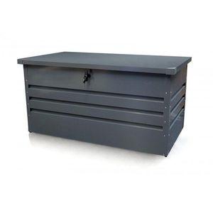 Zahradní úložný box 400l kovový Dekorhome obraz