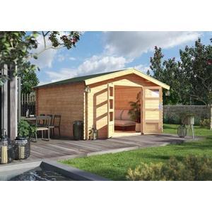 Dřevěný zahradní domek s podlahou 387 x 387 cm Dekorhome obraz
