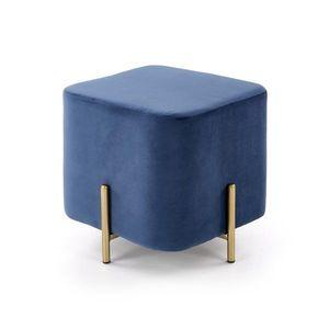 Taburet CORNO Halmar Modrá obraz