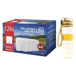 Maxxo Výhodná sada UNI vodní filtry 12 ks + sportovní láhev obraz