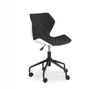Dětská židle MATRIX, bílá/černá obraz