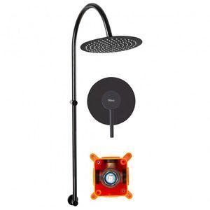 Sprchový set podomítkový + BOX Rea LUGANO černý obraz