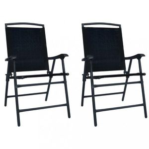 Skládací zahradní židle 2 ks Dekorhome Černá obraz