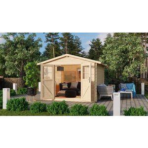 Dřevěný zahradní domek 297 x 297 cm Dekorhome obraz