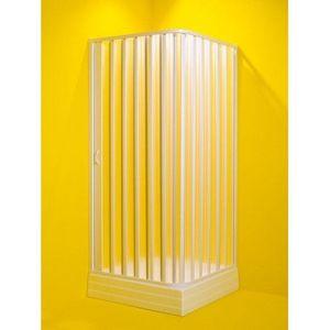 HOPA Čtvercový sprchový kout VENERE Plast bílý, 185 cm, 60 80 cm × 60 80 cm, Univerzální, Polystyrol OLBVEN80 obraz